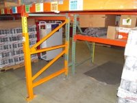 After: Repaired Pallet Rack with Rack Repair Solution